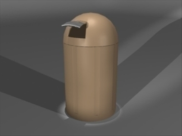 trash can 3d model 3ds dxf lwo 81140
