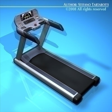 treadmill 3d model 3ds dxf c4d obj 89283