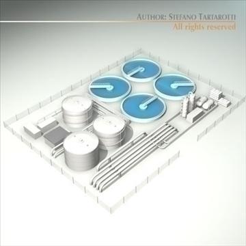 treatment plant 3d model 3ds dxf c4d obj 100867