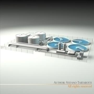 treatment plant 3d model 3ds dxf c4d obj 100868