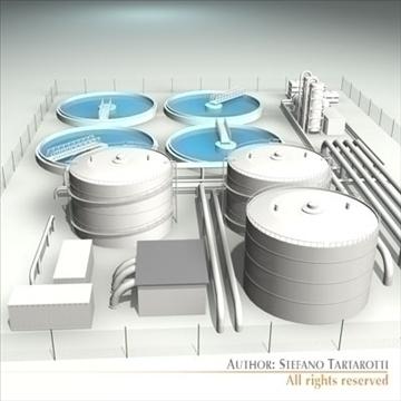 treatment plant 3d model 3ds dxf c4d obj 100869