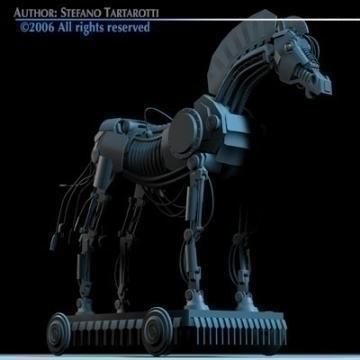 trojan horse 3d model 3ds dxf c4d obj 78219