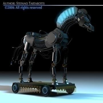 trojan horse 3d model 3ds dxf c4d obj 78221