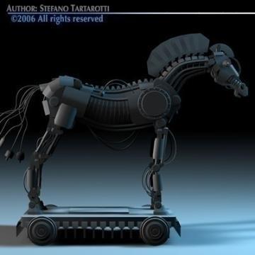 trojan horse 3d model 3ds dxf c4d obj 78224
