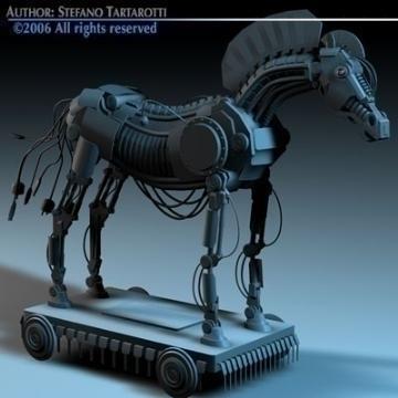 trojan horse 3d model 3ds dxf c4d obj 78225