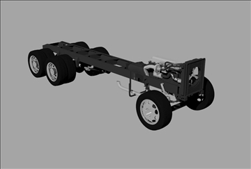 truck chassis 3d model 3dm 98534