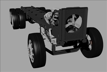 kravas automašīna šasija 3d modelis 3dm 98535