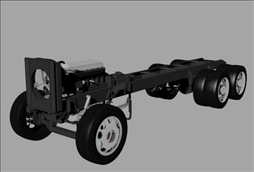 kravas automašīna šasija 3d modelis 3dm 98539