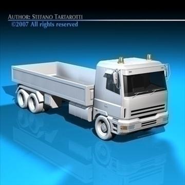 truck low boards deck 3d model 3ds dxf c4d obj 85130