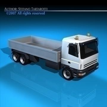 truck low boards deck 3d model 3ds dxf c4d obj 85131