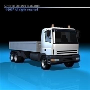 truck low boards deck 3d model 3ds dxf c4d obj 85132