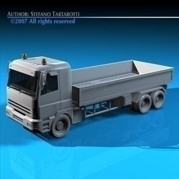 truck low boards deck 3d model 3ds dxf c4d obj 85133