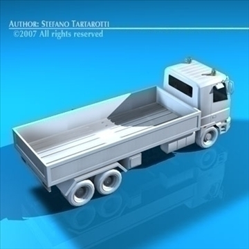 truck low boards deck 3d model 3ds dxf c4d obj 85134