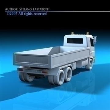 truck low boards deck 3d model 3ds dxf c4d obj 85135