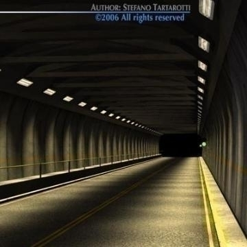 tunnel road set 3d model 3ds dxf iné obj 78357