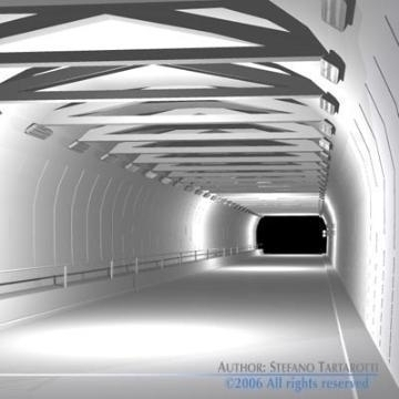 tunnel road set 3d model 3ds dxf other obj 78359
