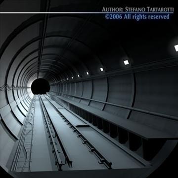 tunnel subway 3d model 3ds dxf c4d obj 83424