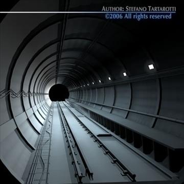 tunnel subway 3d model 3ds dxf c4d obj 83425