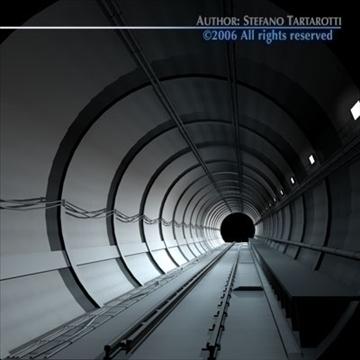 tunnel subway 3d model 3ds dxf c4d obj 83426