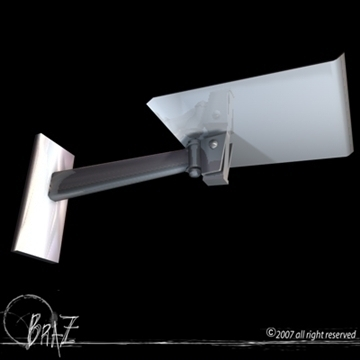 tv wall bracket 3d model 3ds dxf c4d obj 85185