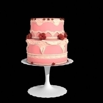 two layer cake 3d model lwo other 98706
