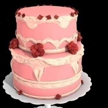 two layer cake 3d model lwo other 98707