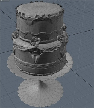 two layer cake 3d model lwo other 98708