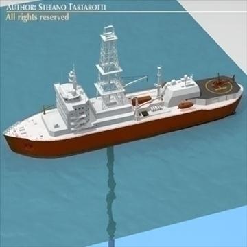 underwater oil leak repair ship 3d model 3ds dxf c4d obj 105987