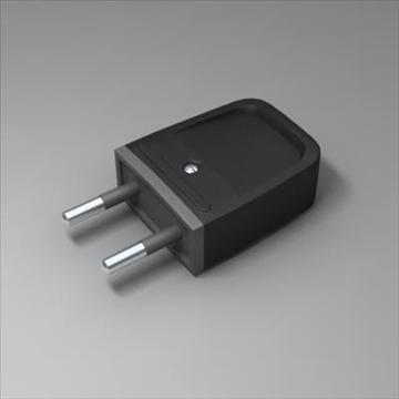 universal plug 3d model 3ds max fbx obj 101587
