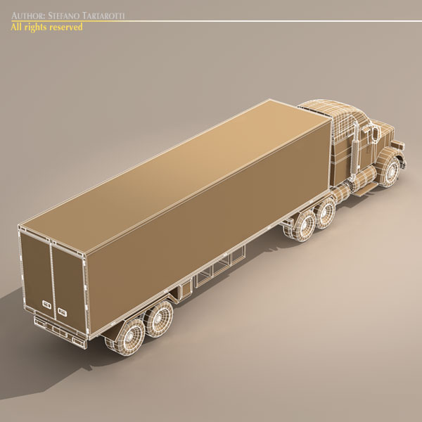 us freight truck 3d model 3ds dxf c4d obj 112916