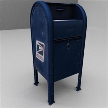 us mailbox 3d model ma mb 83243