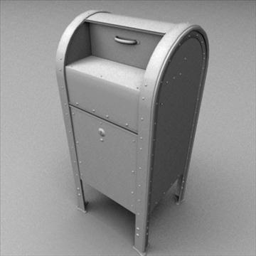 us mailbox 3d model ma mb 83249