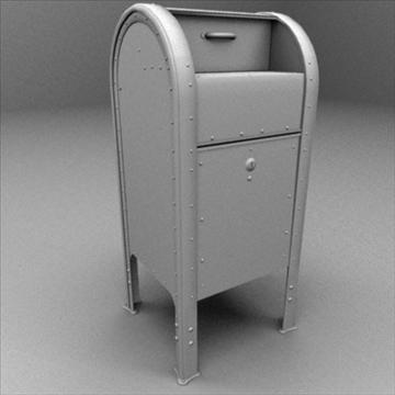 us mailbox 3d model ma mb 83250