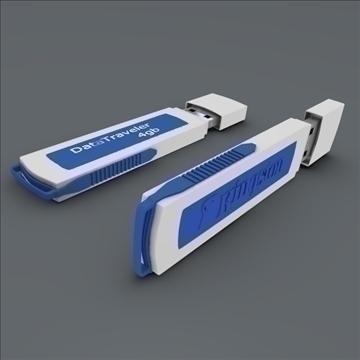 usb flash device 3d model fbx blend obj 103485