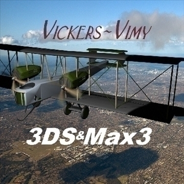 vickers vimy 3d model 3ds max 79319