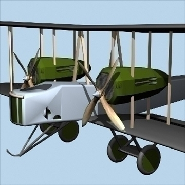 Vickers vimy 3d líkan 3ds max 79320