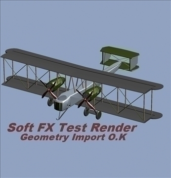 Vickers vimy 3d líkan 3ds max 79321