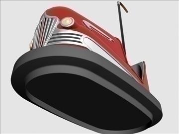 vintage bumper car 3d model 3ds dxf 98970