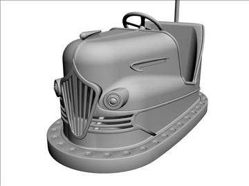 vintage bumper car 3d model 3ds dxf 98971