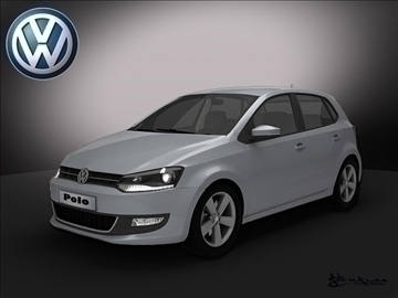 volkswagen polo 5doors 2010 3d model max 103529