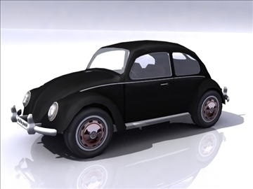 vw beetle split window 3d model 3ds max obj 108380