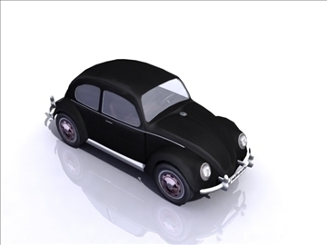 vw beetle split window 3d model 3ds max obj 108381