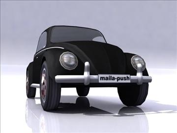 vw beetle split window 3d model 3ds max obj 108382