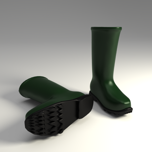 Wellington boots 3d model 3ds dxf blend 104162