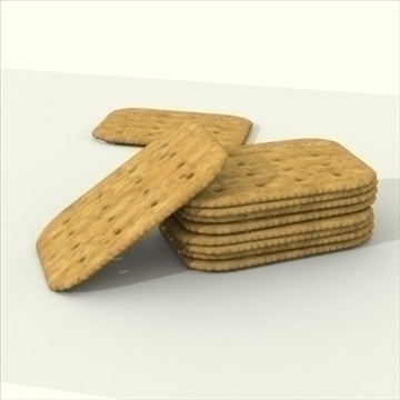 wheat crackers 3d model 3ds dxf fbx lwo other texture obj 98727