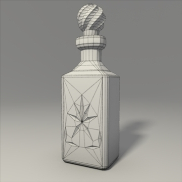 whisky decanter 3d model 3ds blend obj 103686