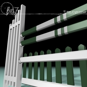 white-green jump 3d model 3ds dxf c4d obj 87933