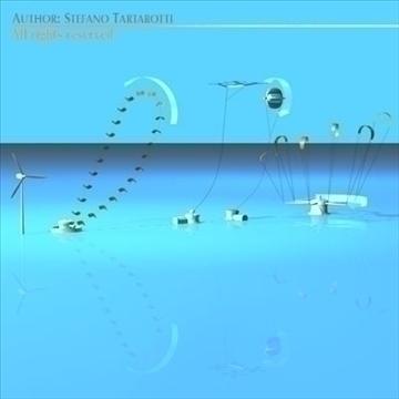 wind power plants 3d model 3ds dxf c4d obj 100874