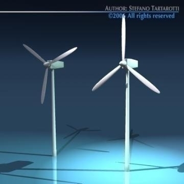 wind turbine2 3d model 3ds dxf c4d obj 78422