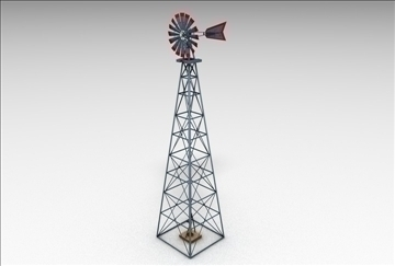 windmill 3d model 3ds c4d 109288